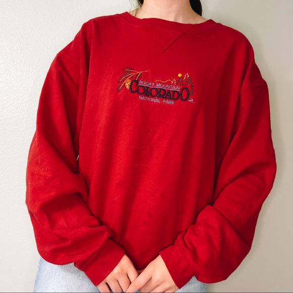 Vintage Tops - red colorado sweatshirt